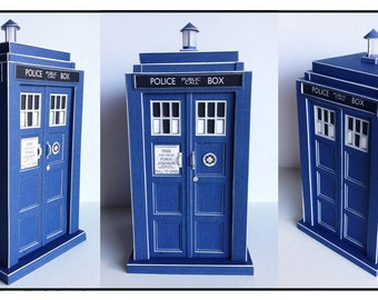 Make your own miniature Tardis inspired by Doctor Who