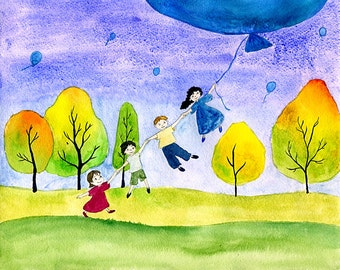 Children illustration print.