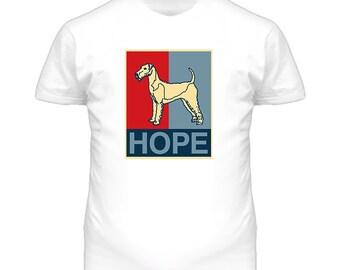 Irish Terrier Custom Dog Breed Hope Parody T Shirt