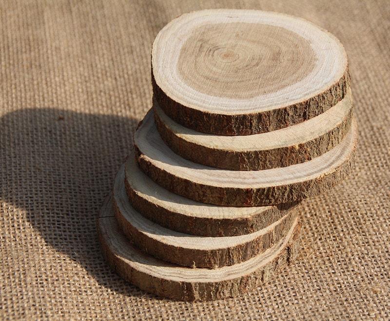 20 bois brut naturel rustique tranche bricolage par happylife2014. Black Bedroom Furniture Sets. Home Design Ideas