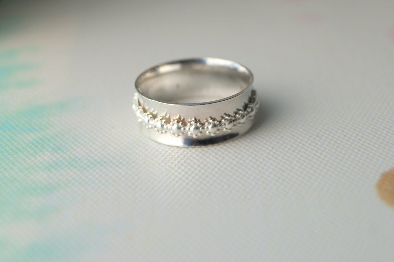 Sterling Silver Spinner Ring Handmade Daisy Flower Spinning