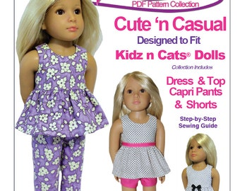 Cute n Casual - Kidz n Cats Doll Sewing Pattern