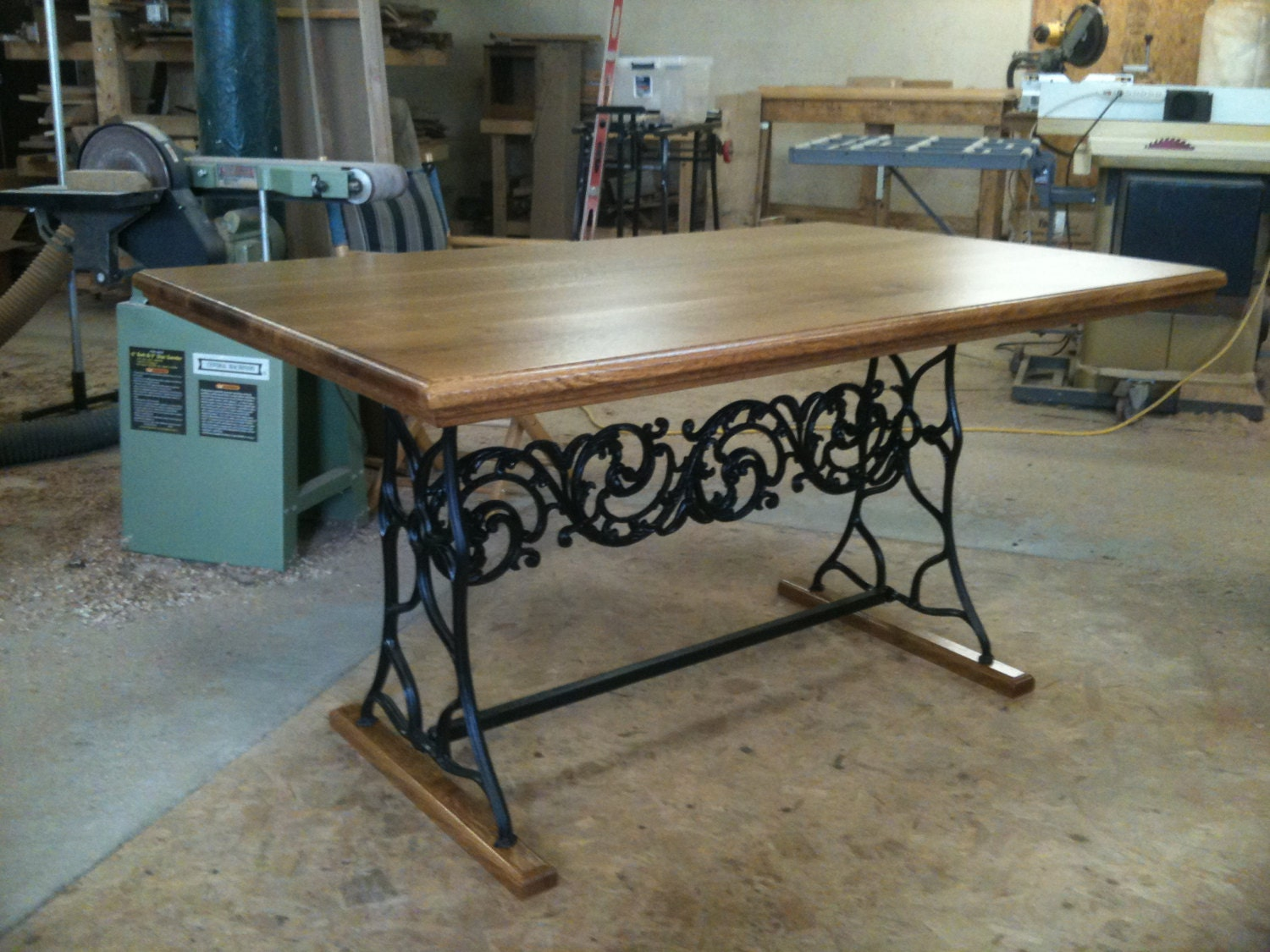 Custom oak and antique iron dining table : ilfullxfull704221378peet from www.etsy.com size 1500 x 1125 jpeg 332kB