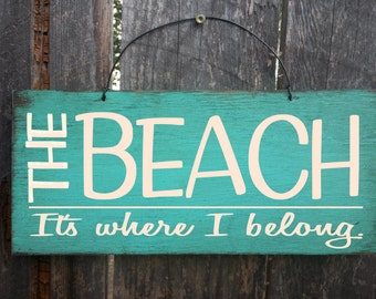 beach sign, beach decor, beach house art, beach It's where i belong sign, beach house decor, beach sign, nautical theme, beach house