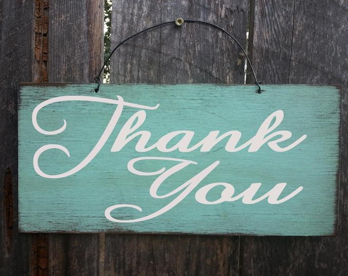 Thank You Sign, wedding sign, rustic wedding, wedding decor, thank you card, 133/234