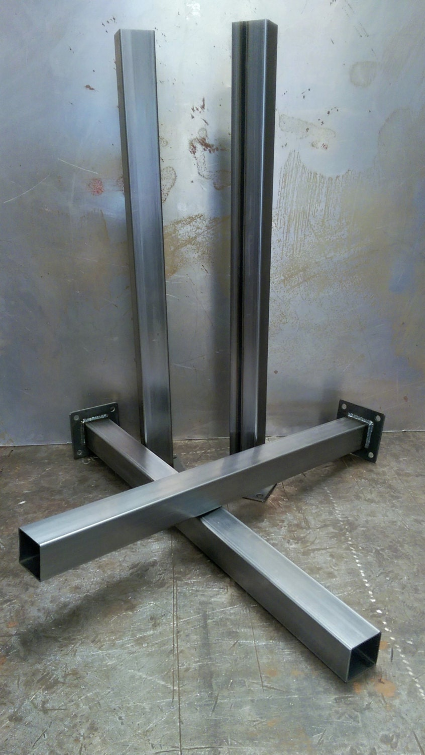 metal tube table legs set of 4 14 ga