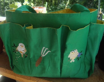 Canvas Garden Tools Organizer....Tote....Caddy