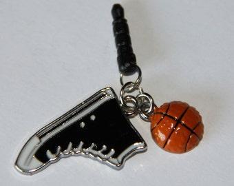 Cell Phone Dust Plug - Basketball