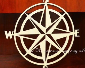Nautical Compass- Wall Hanging- Home Decor- Wood Compass- Nautical Decor- Personalized Compass- Gift