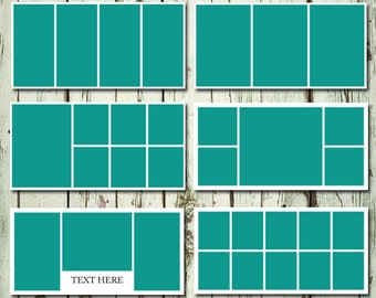 10x20 Storyboard CollageTemplate Layered PSD Set of 6 Templates