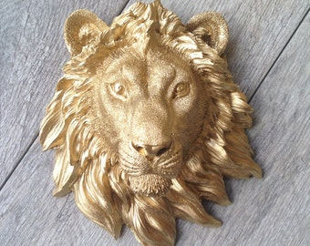 CUSTOMIZE your Lion Head Wall Mount // Faux Taxidermy // 3d Wall Plaque // Safari Nursery // Fake Animal Head Decor // Lion King // Jungle