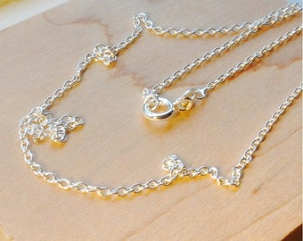 16 Inches Sterling Silver Chain- 1.7mm sterling silver necklace, Sterling Silver, 925, silver chain, DIY, jewelry supply