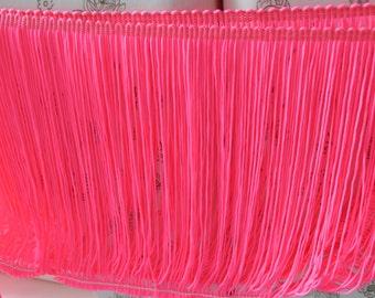 5m 18-20cm nylon chainette fringe, 16 neon colors for your choice