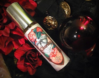 Chanda - All Natural, Crystal Charmed, Perfume - Patchouli, Rose, Cinnamon, Jasmine, Ginger, Garnet