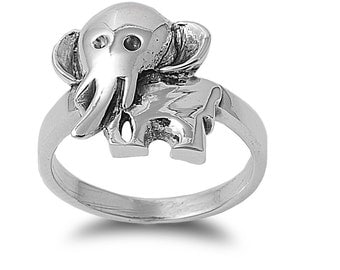 Elephant Ring 17MM Sterling Silver 925