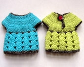 """PDF crochet pattern for 13"""" doll clothes - Roselette Chéries top - fits Les Cheries and H4H dolls + one bonus free pattern"""
