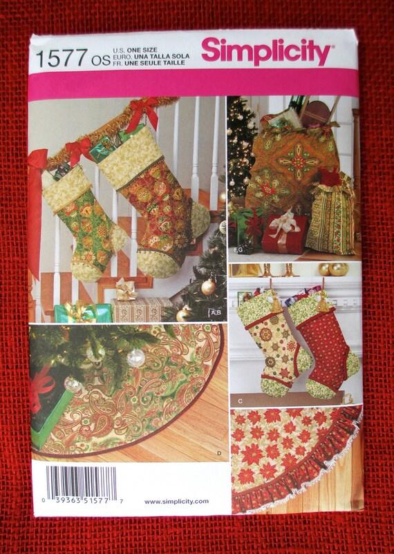 Simplicity Sewing Pattern 1577 Christmas Stockings Tree