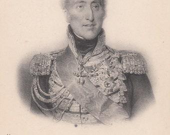 1910 Postcard French Royalty Charles XV 1757  Unused Biography Below Image