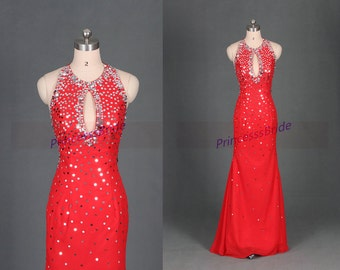 Latest Red Tulle Prom Dress With Black Lace Tea By