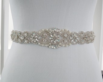 Wedding Sash Belt, Bridal Belt, Sash Belt, Wedding Dress Sash, Crystal Rhinestone Belt, Style 159