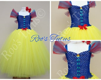 Snow White inspired dress deluxe,tutu dress costume (Handmade) princess dress up
