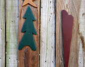 Primitive Christmas Tree and Heart Wall Decor - Handmade Home Decor - Wall Hanging - OFG, FAAP, HAFAIR, Team HaHa