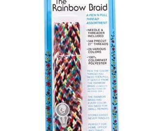The Rainbow Thread Braid for easy color matching when mending