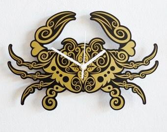 Tribal Crab - Wall Clock