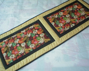 Quilted Table Runner - Autumn Harvest