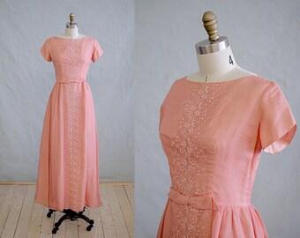 La Peche - Sweet 1960s Peach Party Dress