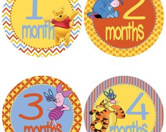Winnie the Pooh Baby Milestone Stickers - Baby Belly Stickers (300)