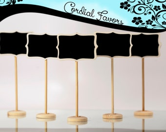 10 Mini Chalkboard with Stands - Shabby Chic for wedding, buffet and food signage, labels, place settings, table numbers, party decorations