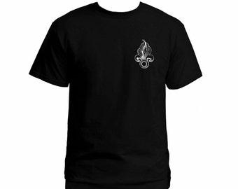 French Foreign Legion Fleur-de-lis black 100% cotton t-shirt