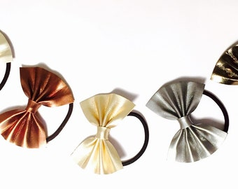100% Genuine Leather Bow Hair Bands, handmade in the UK