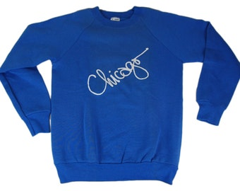 "Vintage 80s Chicago sweater that says ""Chicago"" because Chicago is cool"