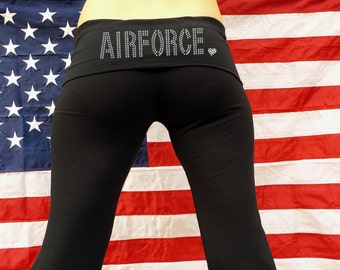 Airforce Yoga Pants Proud Airforce Wife Support the Airforce Airforce Love Airforce Support . Airforce Deployment Support . Airforce Mom