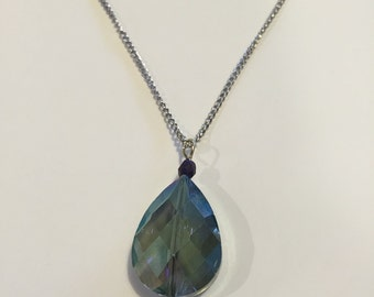 Aura Collection Glass Drop Necklace