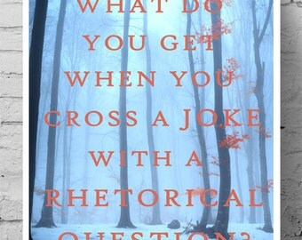 Literary Poster - Joke and Rhetorical Question