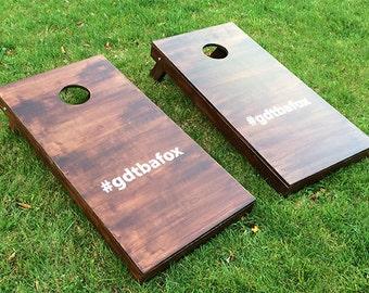 Custom Wedding Cornhole Boards - #Hashtag