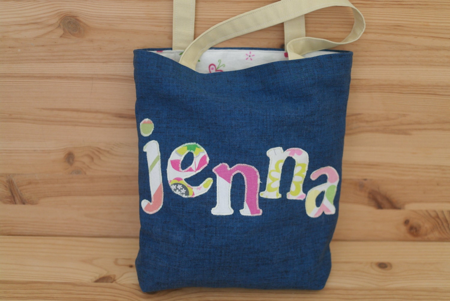 Kids Diaper Bag : Personalized tote bag for kids diaper name library