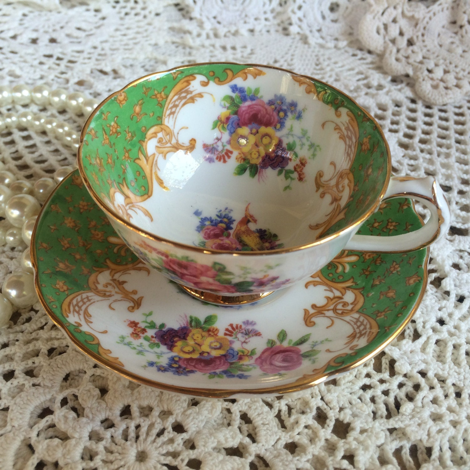 Paragon Fine Bone China ROCKINGHAM Cup and Saucer Made in