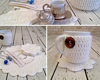 White Crochet Placemat