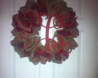 Welcome Wreath Burlap