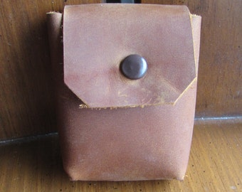 Small Leather Pouch, Perfect for Cables, Keys