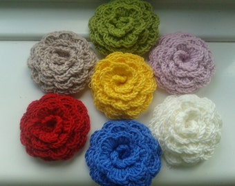 Handmade crochet rose brooch crochet jewellery crochet pin.