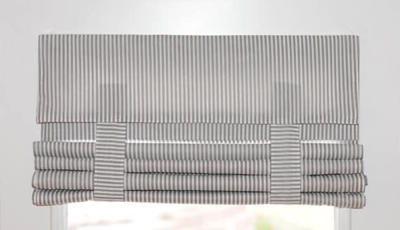 Clearance Gray Amp White Striped French Door Curtain 26x86