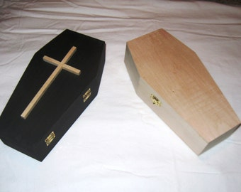 12 Inch Mini Coffin Wood