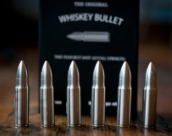 Engraved Whiskey Bullet Beverage Chiller
