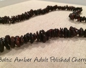 Adult Genuine Baltic Amber Necklace. Anti-Inflammatory, Reduce sympoms: Carpal Tunnel, Headaches, Arthritis, more