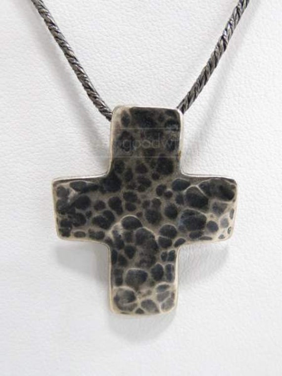 silpada sterling silver hammered cross pendant chain